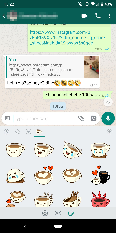 sticker on whatsapp