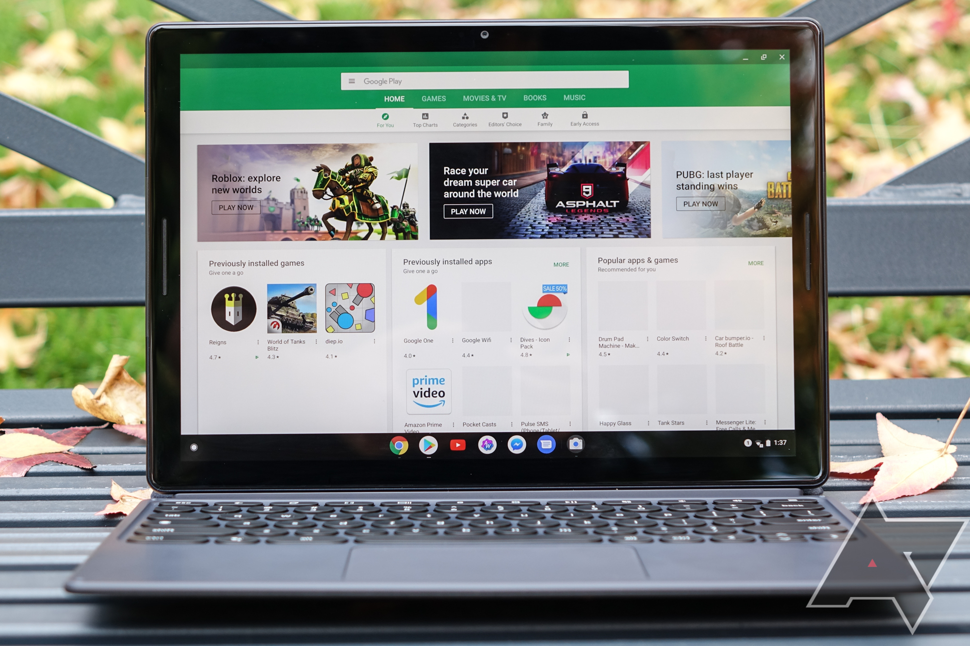 The Google Pixel Slate is a Chrome tablet from the future