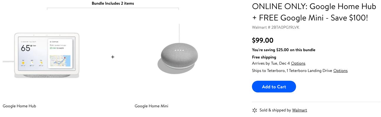 Update: Dead] Google Home Hub and Home Mini bundle just $99