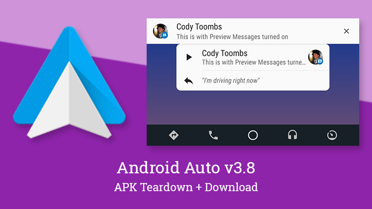 Android Auto v3.8 adds optional message previews and revamps the music player [APK Teardown]