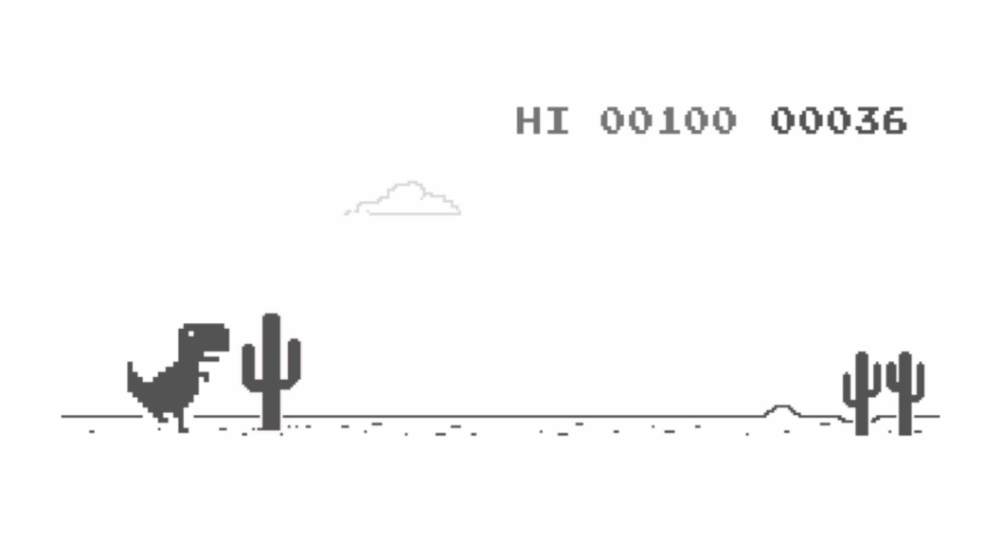Dino Spiel Chrome