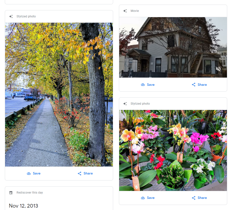 Google Photos site updated to match the app's refreshed
