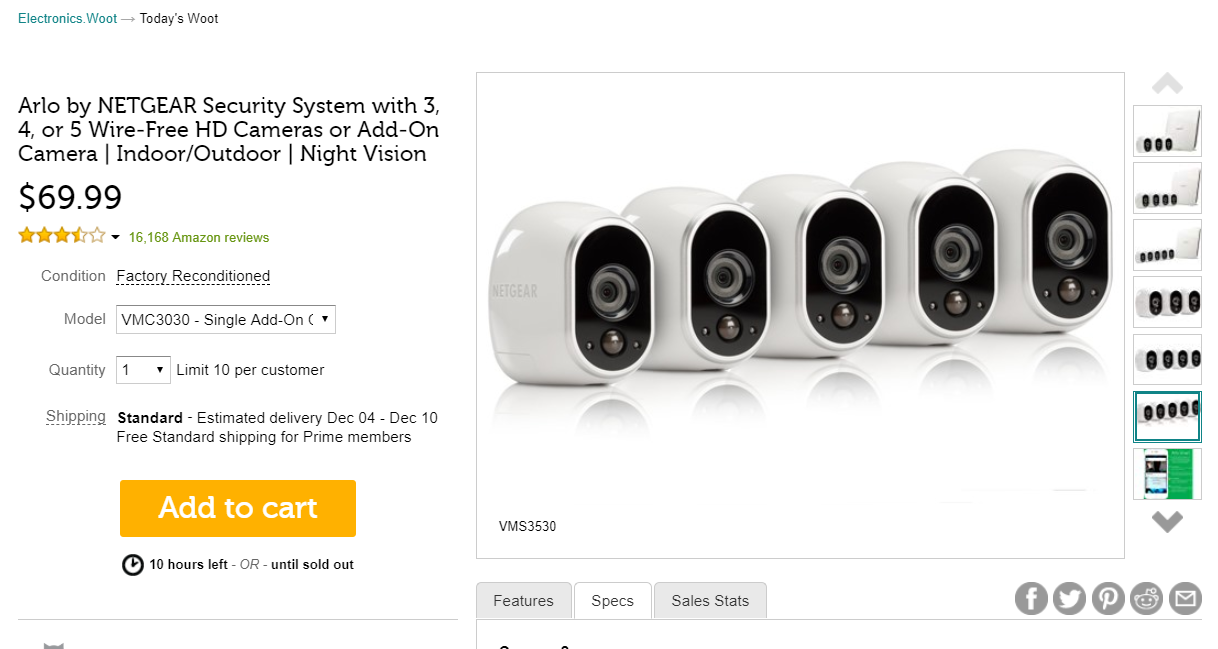 Arlo Bf Deals 5 Camera Pro 2 Bundle 700 At Costco 100
