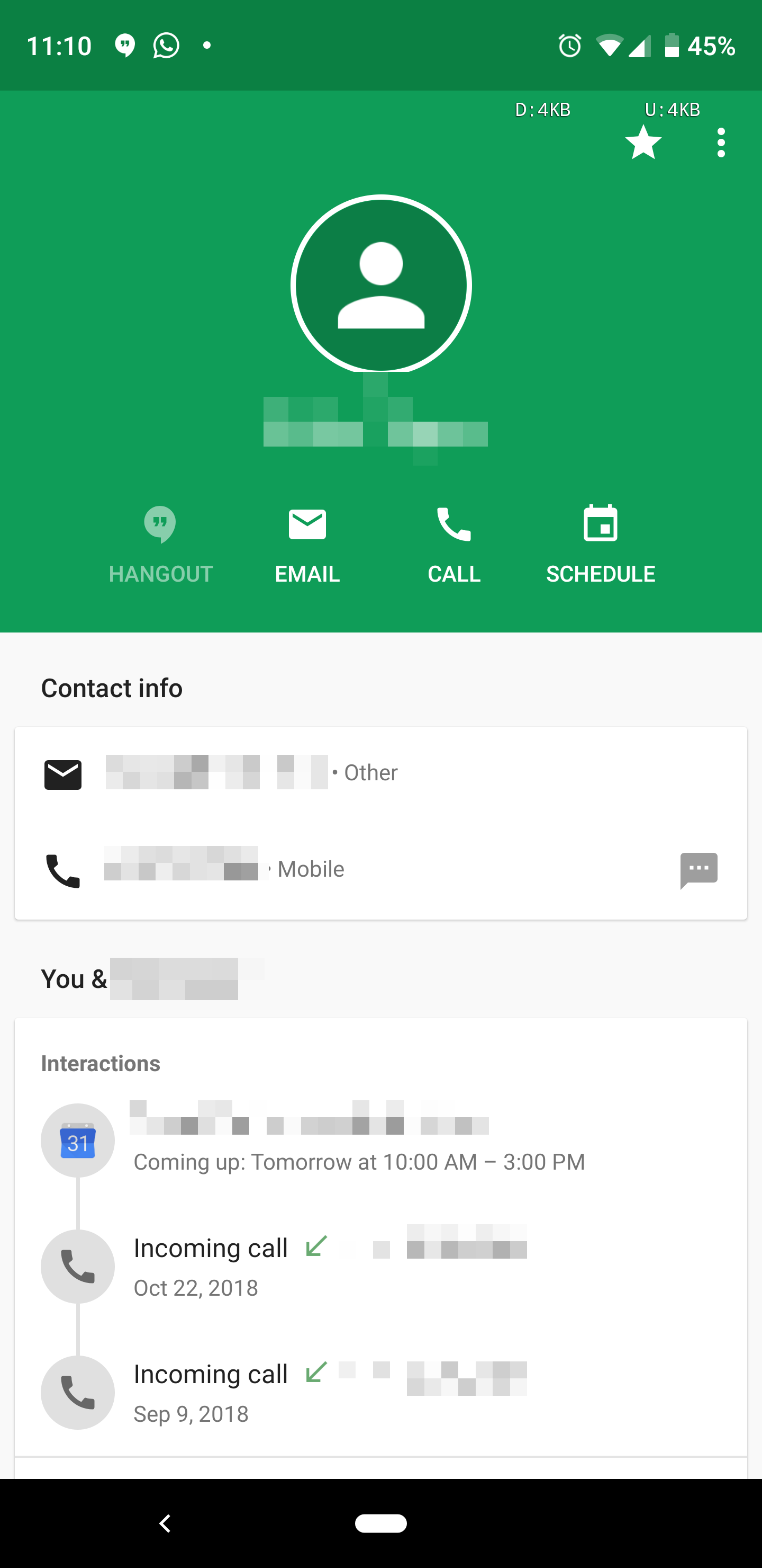 how to get rid of contacts on hangouts