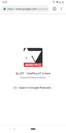 Google Podcasts can now share links to shows and episodes