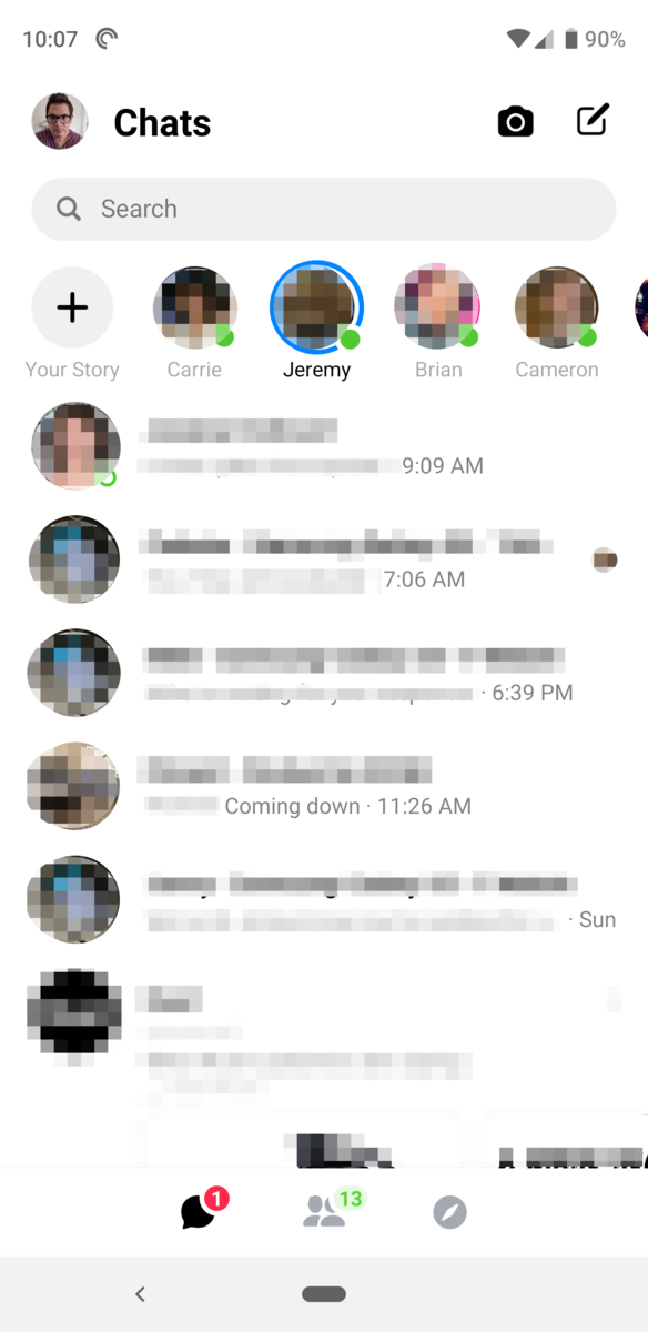 Facebook Messenger's massive UI redesign is widely rolling