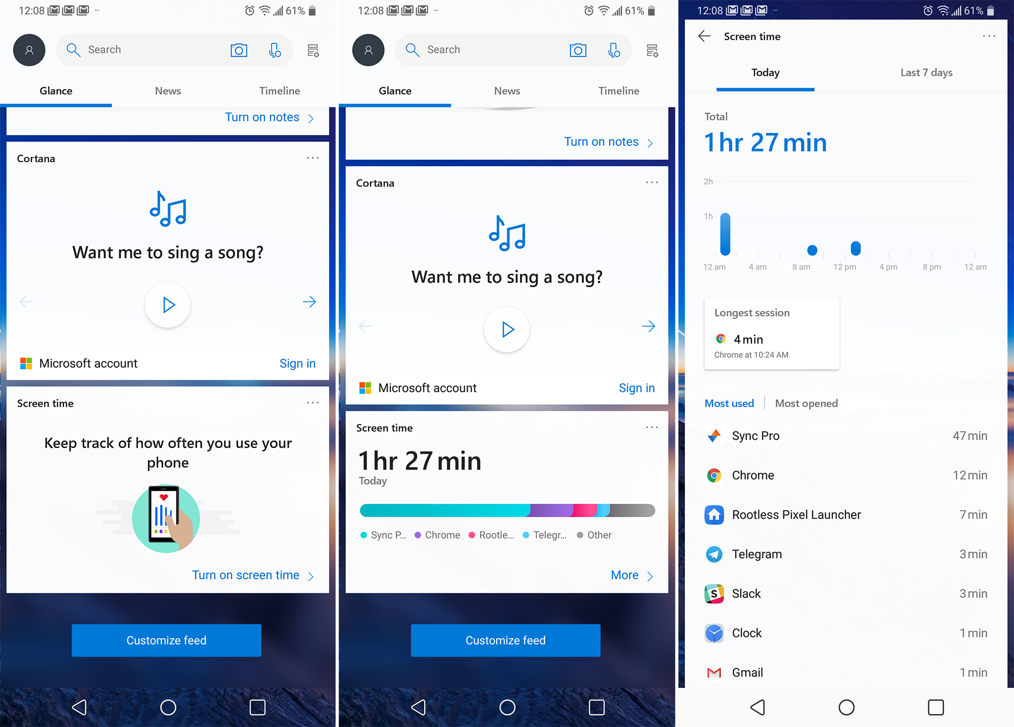 Microsoft Launcher 5 1 beta adds a Pie-like 'digital health' feature