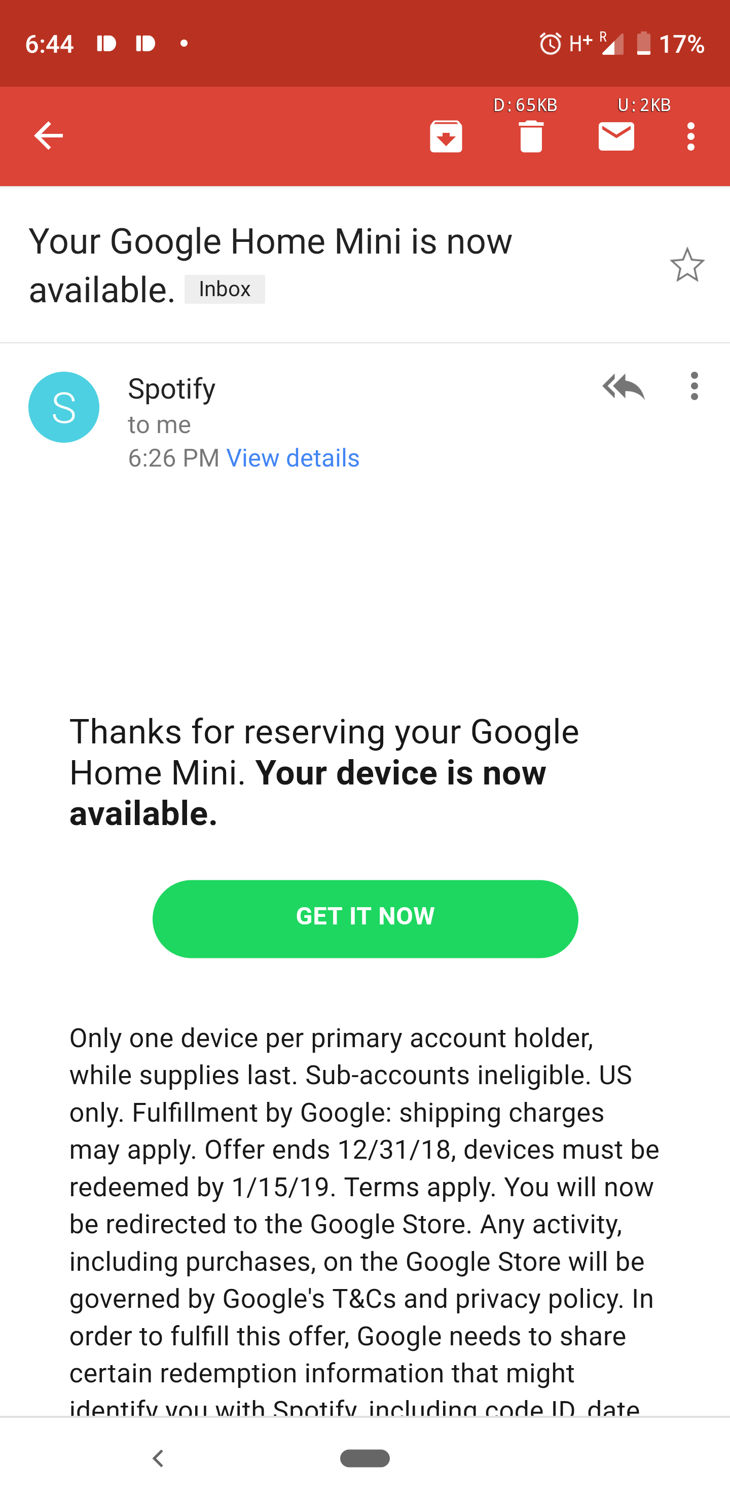 Update: Offer comes to UK] Spotify Premium for Family account