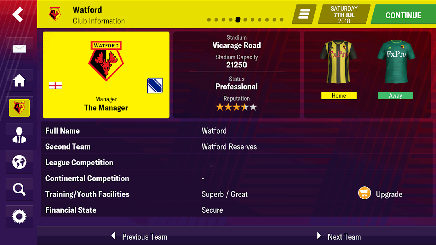 Football manager touch 2019 apk