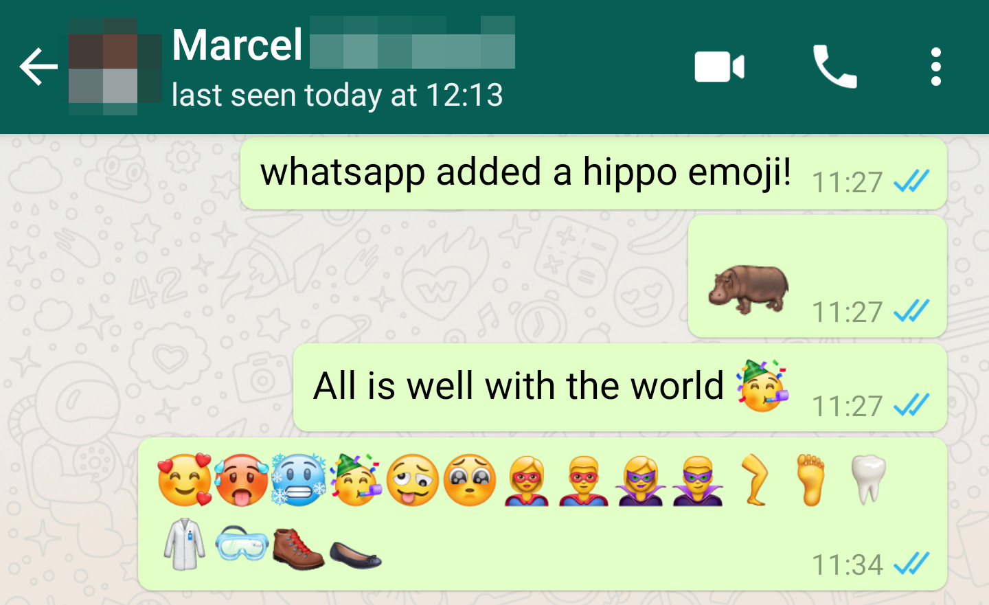 WhatsApp beta adds Unicode 11 emojis, private replies in groups