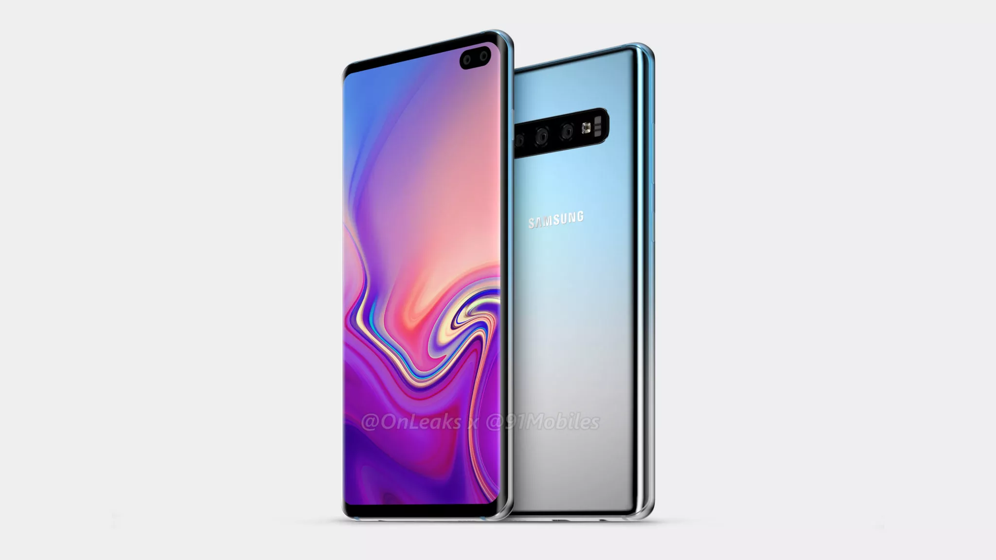 new galaxy s10 renders show display hole and triple camera. Black Bedroom Furniture Sets. Home Design Ideas