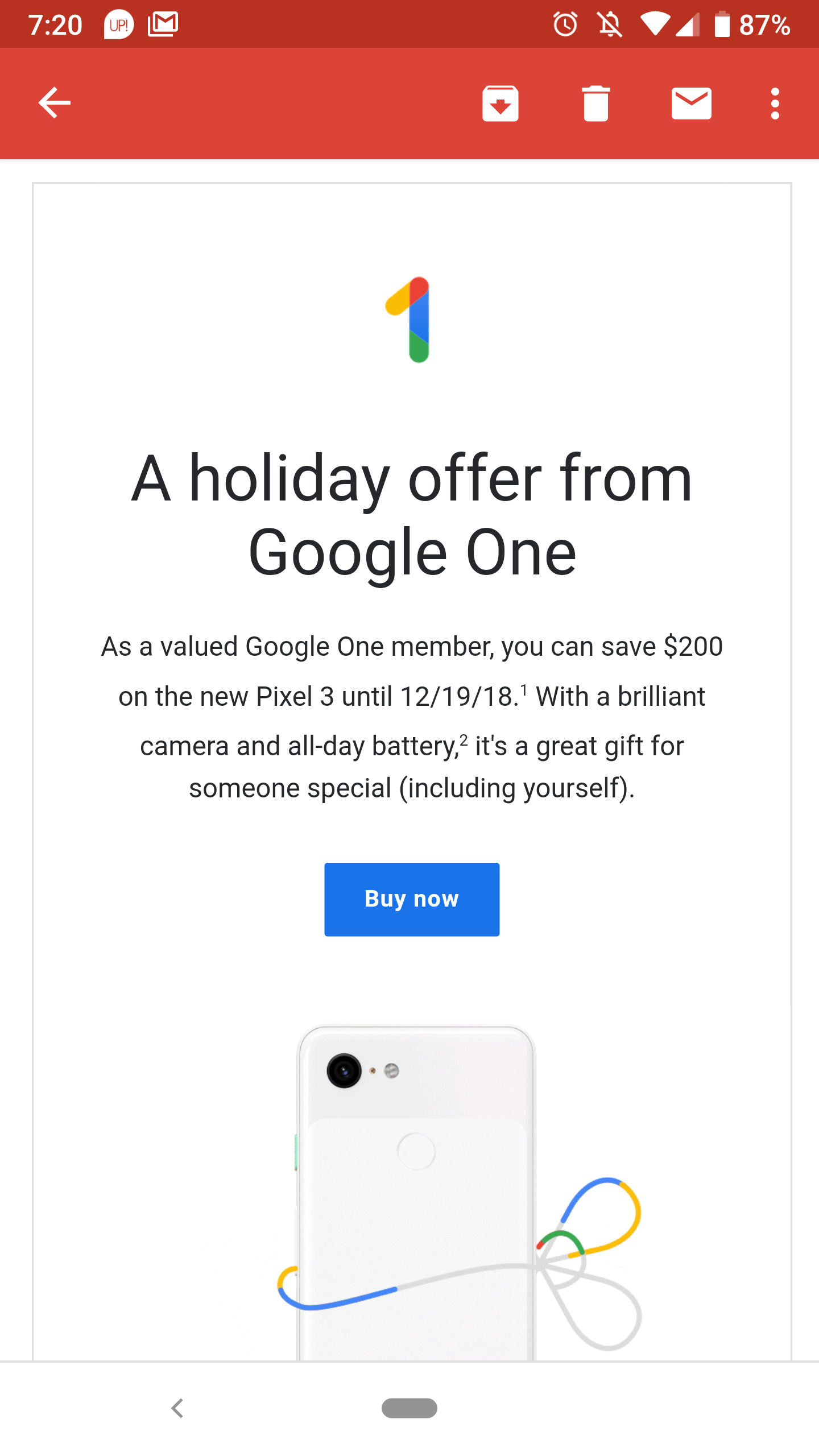 Google One subscribers getting offers for $125 or $200 off the Pixel