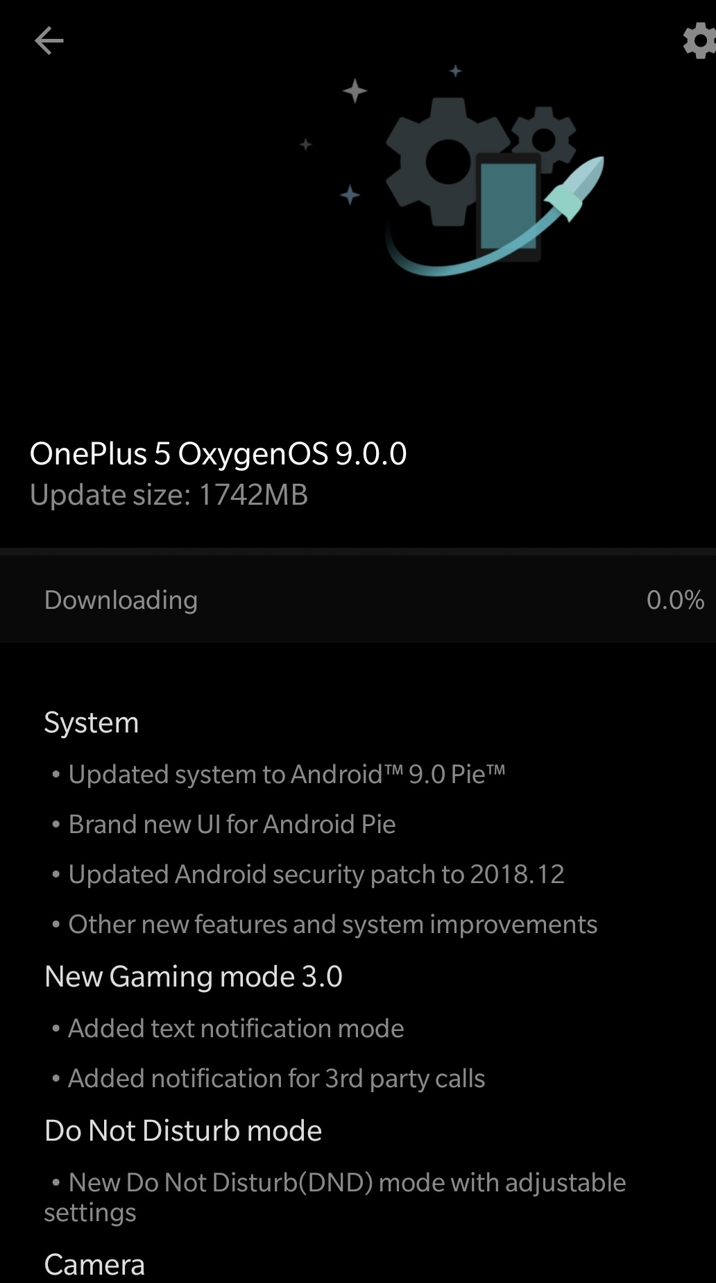 OxygenOS 9.0.0 for OnePlus 5 Changelog