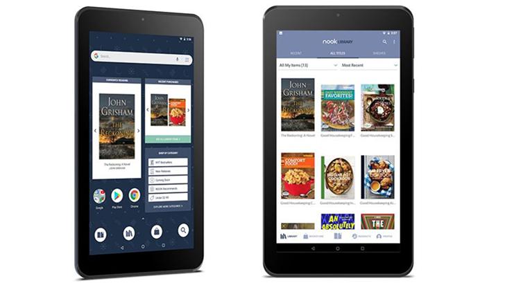 barnes noble announces 50 nook 7 inch tablet an amazon fire 7