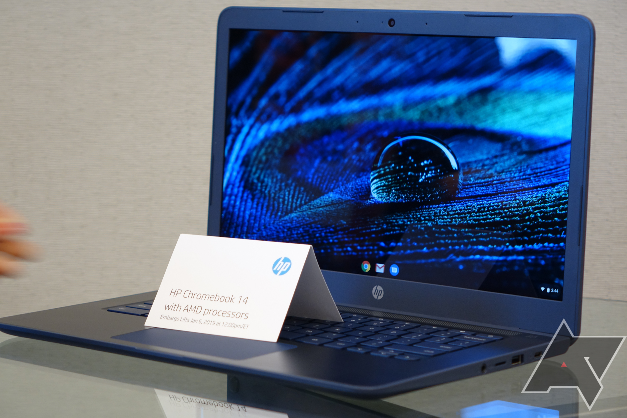 The HP Chromebook 14 is powered by an AMD processor, starts at $269