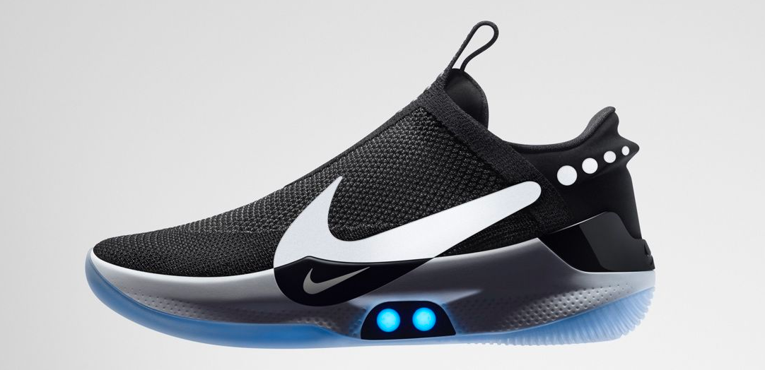 Nike reveals self-lacing Adapt sneakers and of course they have a smartphone app