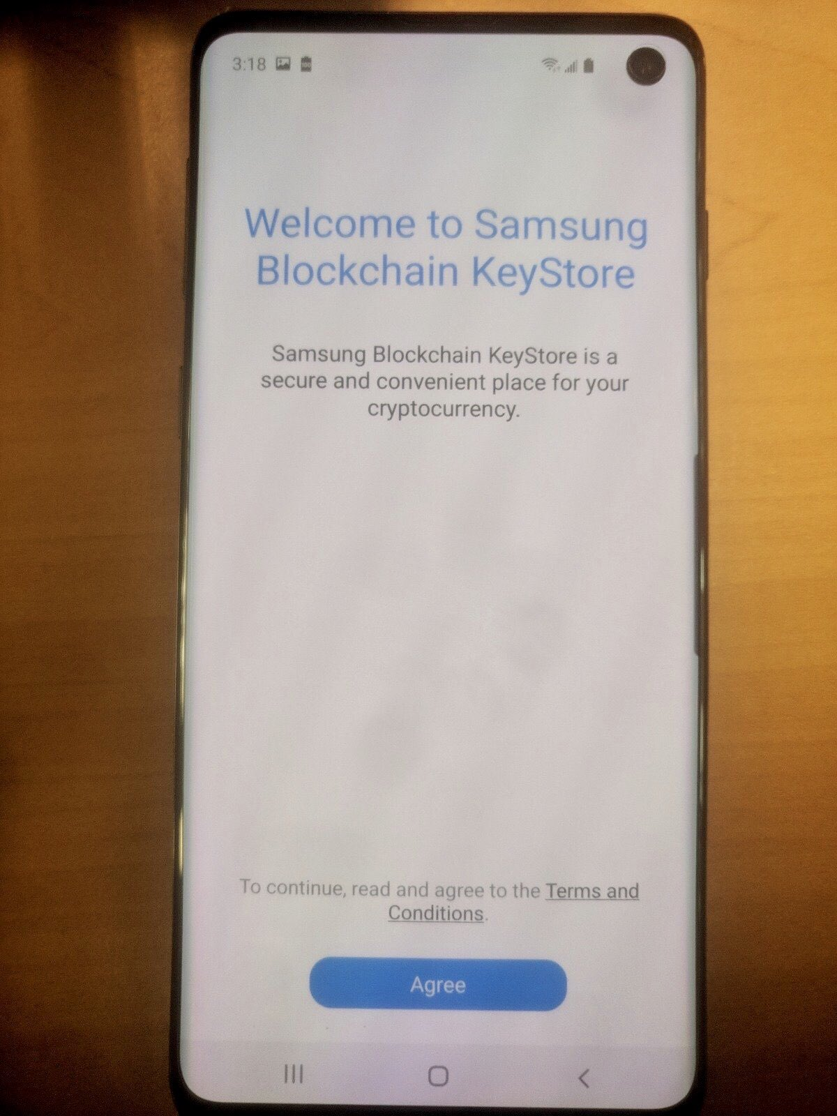 My new galaxy 10 keeps going to cryptocurrency