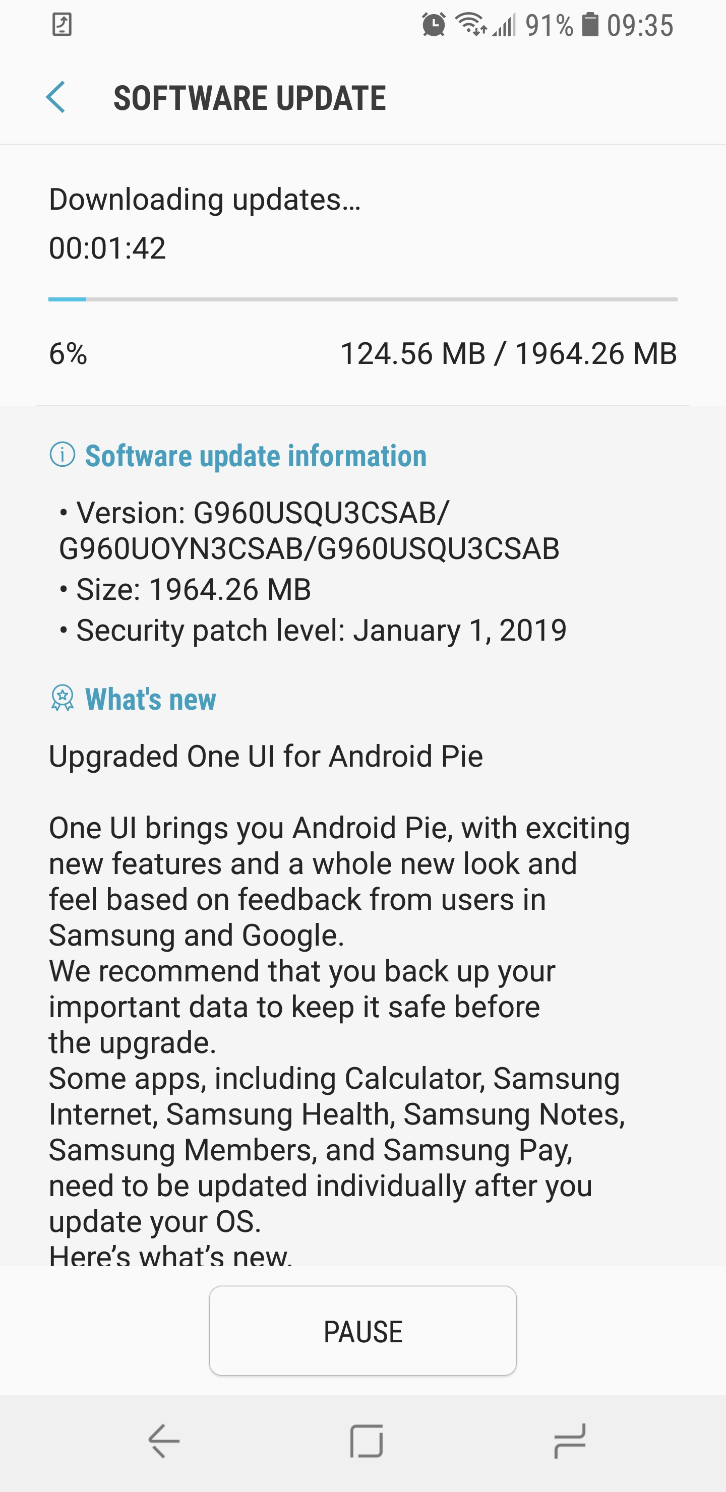First US Galaxy S9 and S9+ Android 9 Pie updates rolling out