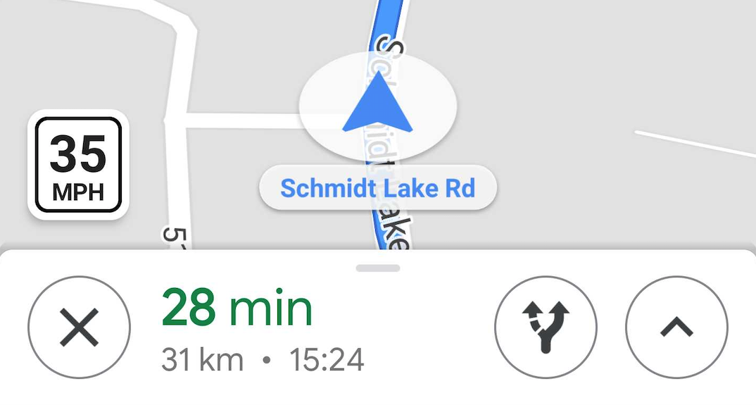 Speed limit feature now showing up in Google Maps for some users