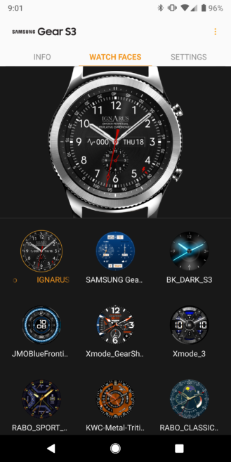 Samsung Galaxy Wearable app update brings watch face preview tab