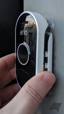 arlo-doorbell-mount-install-217x386 No Wiring Doorbell Camera on transformer schematic, door frame illustration for, broan c2-01, old friedland, one button,