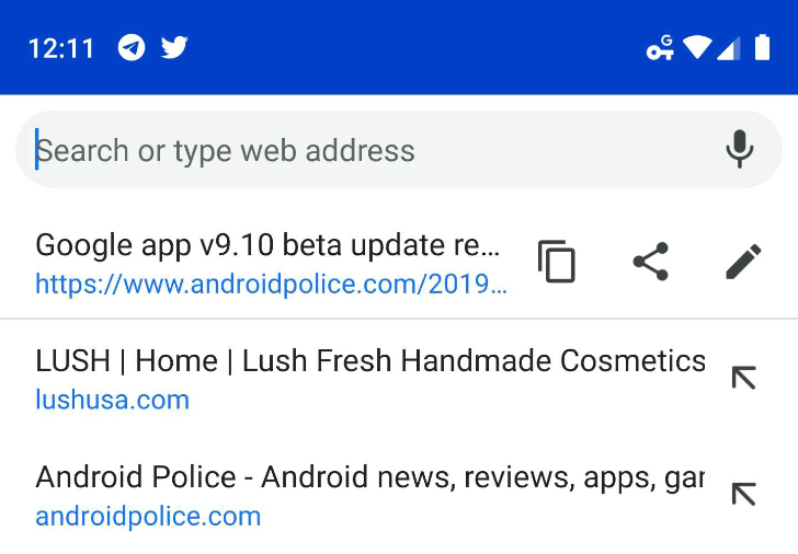 Update: Now in stable] Chrome testing search-friendly
