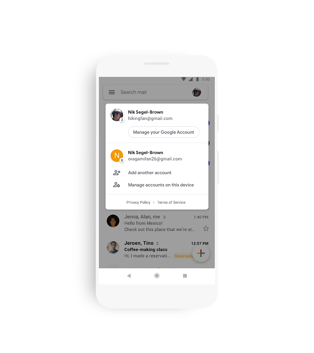 Google unveils new look for Gmail on mobile