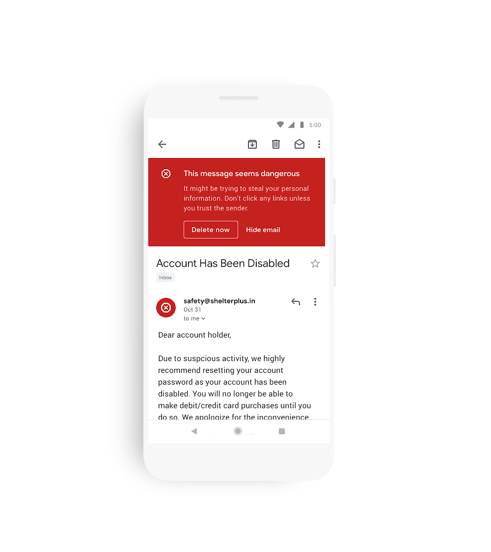 Gmail for Android is getting a Material Theme redesign