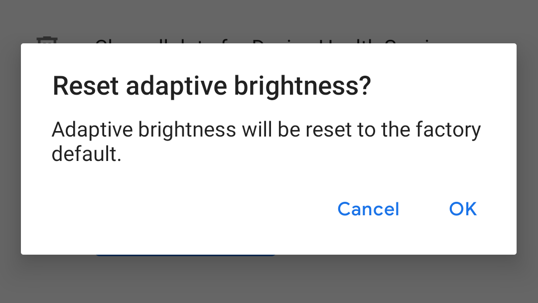 You can now reset Adaptive Brightness in Android 9 Pie