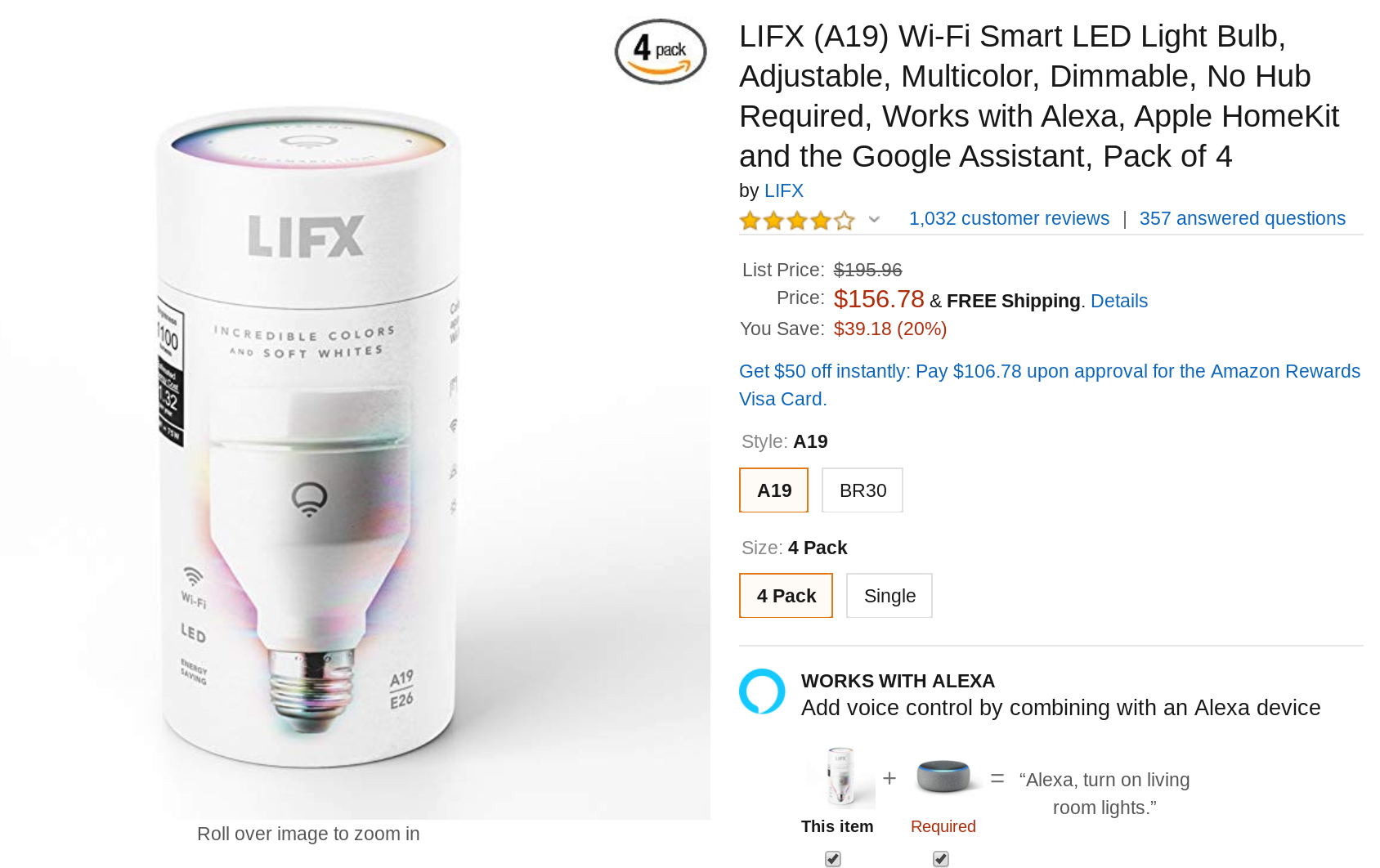 Snag A 4 Pack Of Lifx Color Changing Smart Light Bulbs For 157 39