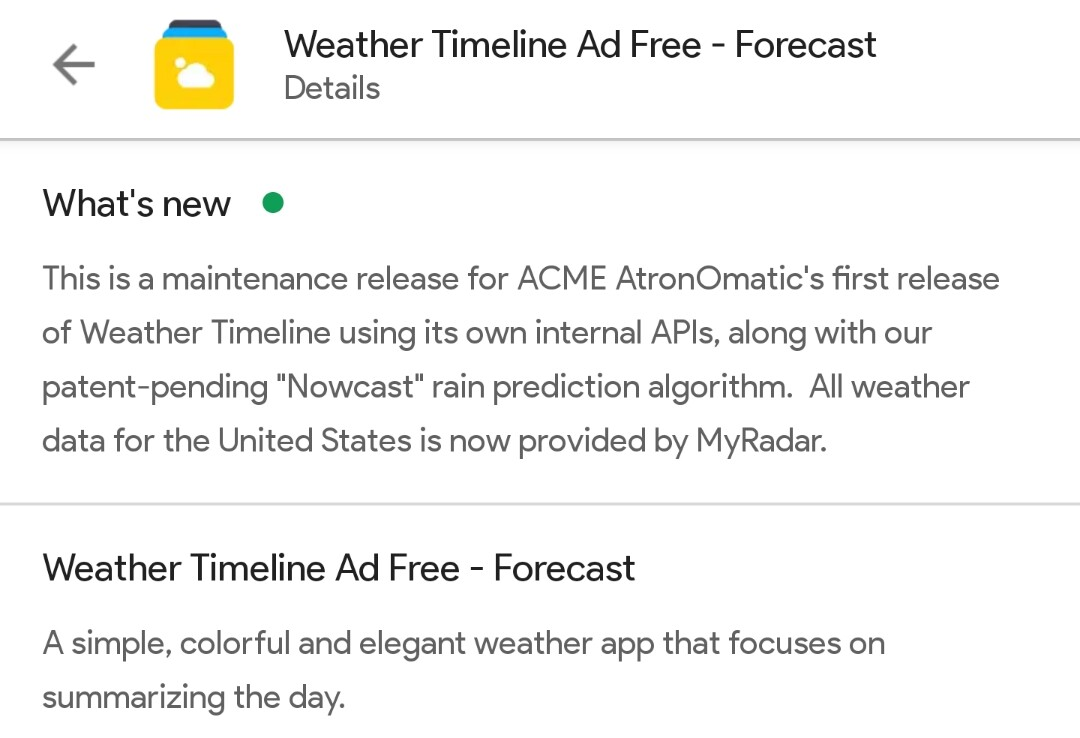 Everybody hates the new Weather Timeline update
