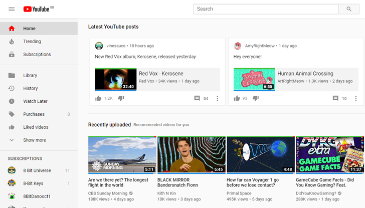 youtube starts showing community posts on the web home page