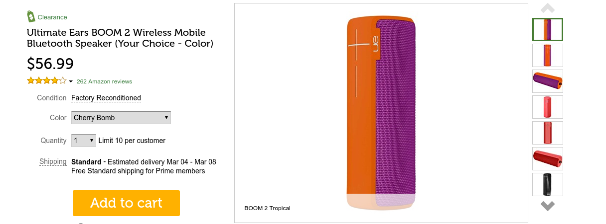 Grab a factory refurbished UE Boom 2 for $57 ($30 off) from Woot