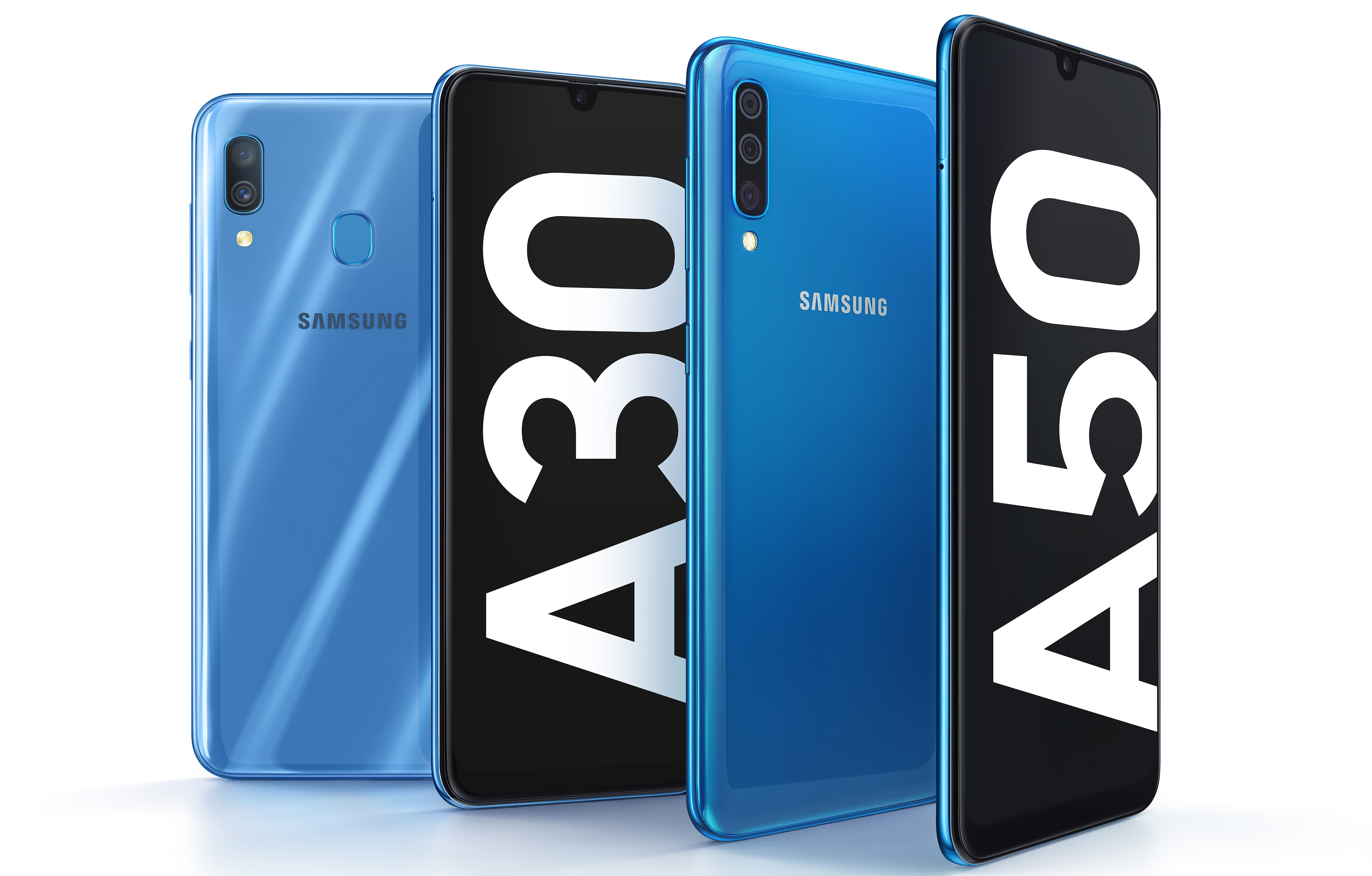 Update Galaxy A10 Indian Pricing Samsung Announces Galaxy A50 And A30 Mid Rangers With Glass Tic