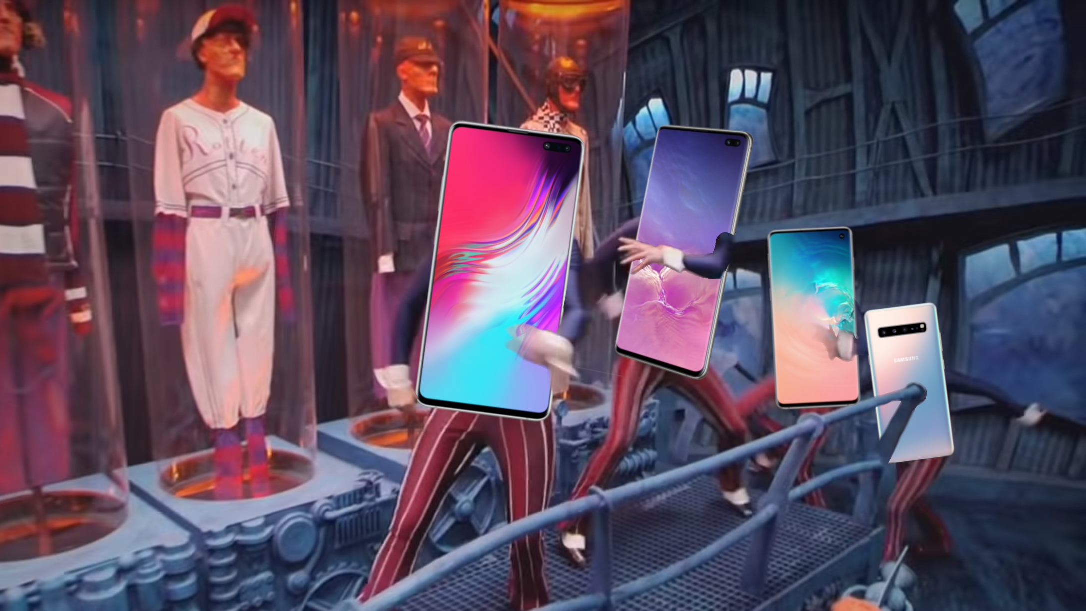 Samsung's official Galaxy S10 wallpapers all try really hard to hide the display cutout