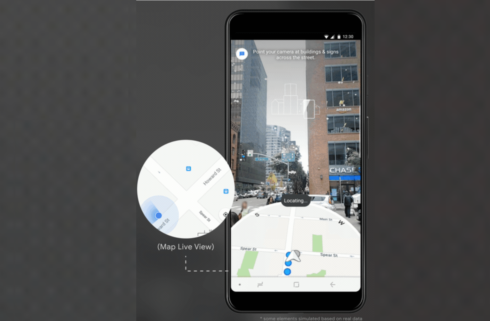 Google Maps will use your camera to determine your location