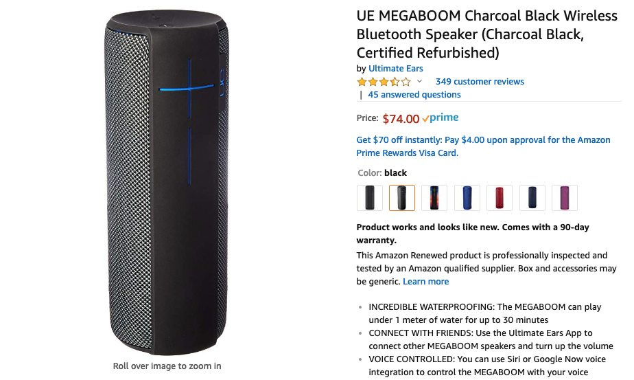 Ultimate Ears MEGABOOM drops to $105 ($195 off MSRP) on Amazon
