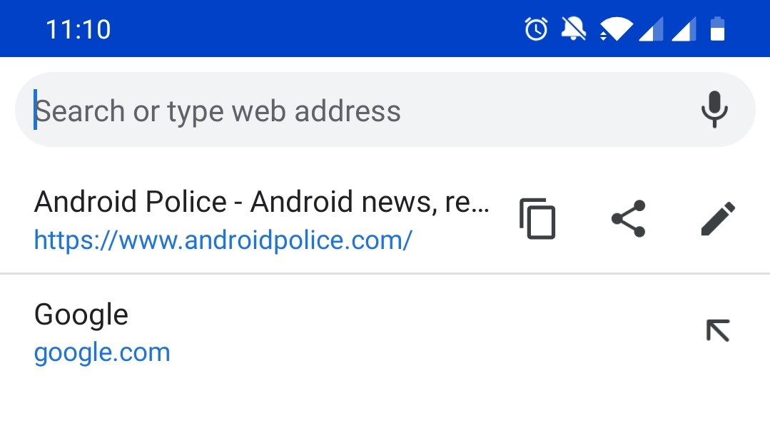 Chrome Beta 73 adds copy and share buttons to address bar