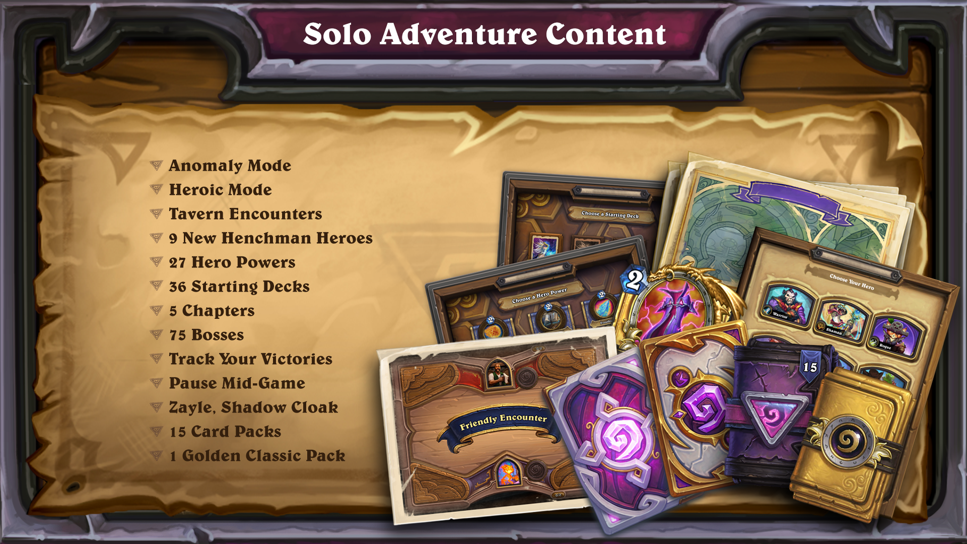 Blizzard announces Hearthstone's next expansion will begin the Year