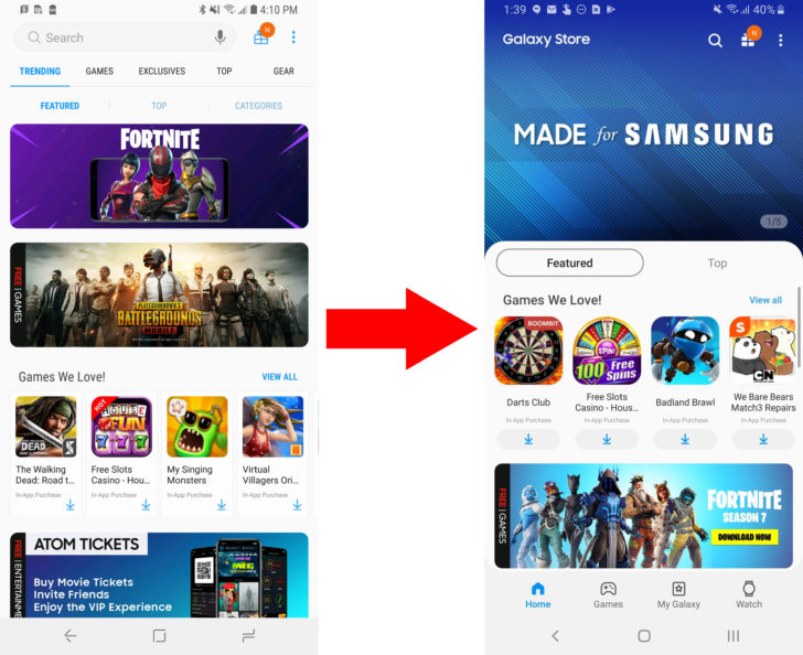 Samsung updates Galaxy Apps with OneUI, changes name to Galaxy Store - Android Police