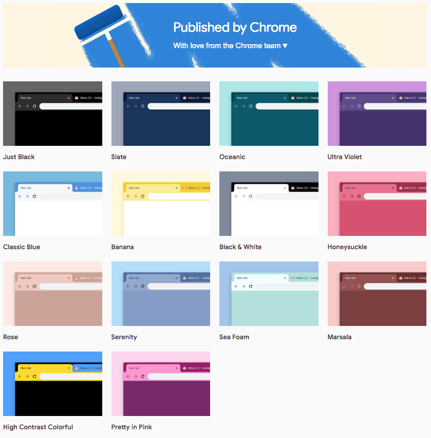 Google releases 12 new colorful themes for Chrome, including Just Black