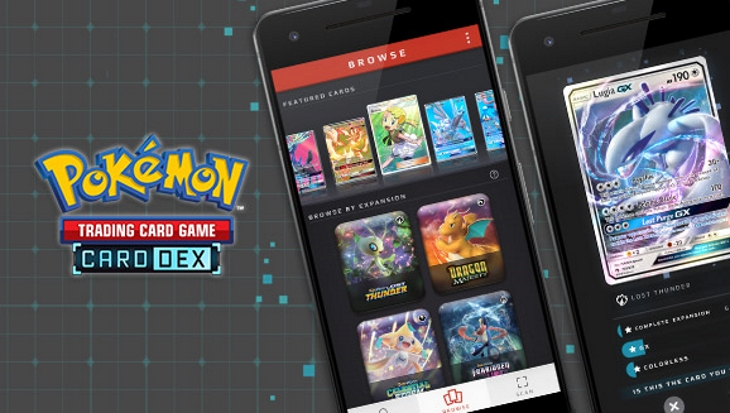 The Pokémon TCG Card Dex app is officially available on the
