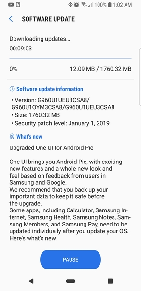 Android 9 Pie is rolling out now to unlocked Samsung Galaxy