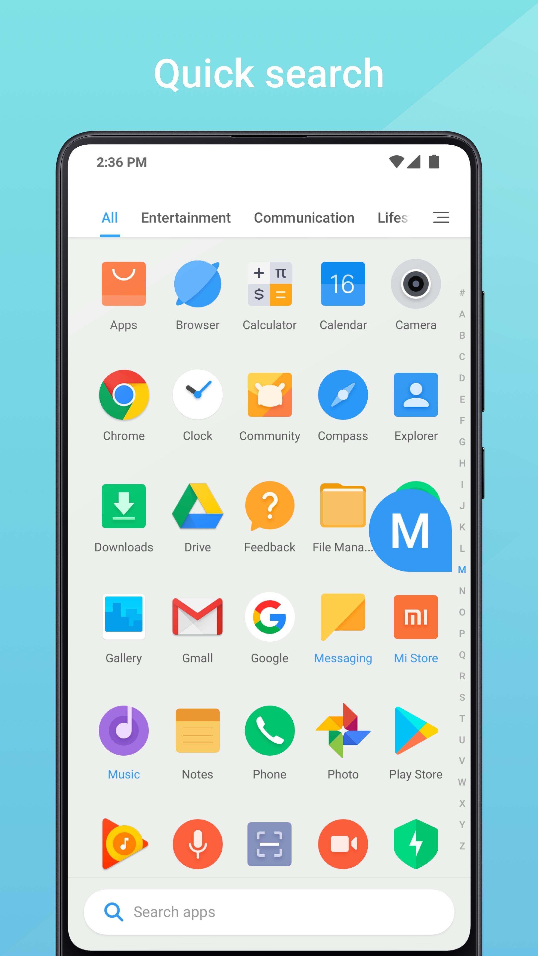 Xiaomi's Mint Launcher comes to the Play Store, but it's not