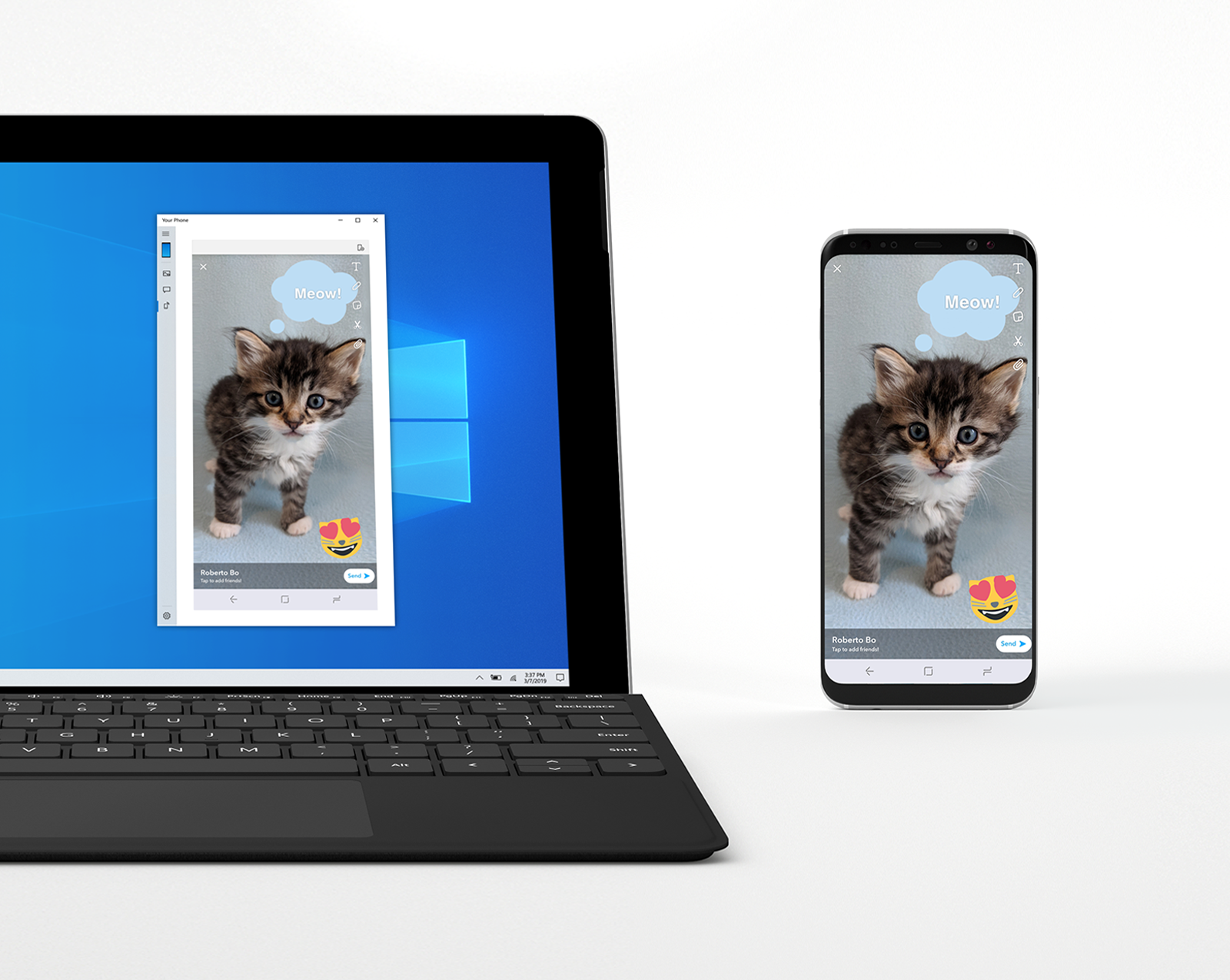 Microsoft begins testing Android mirroring in Windows 10