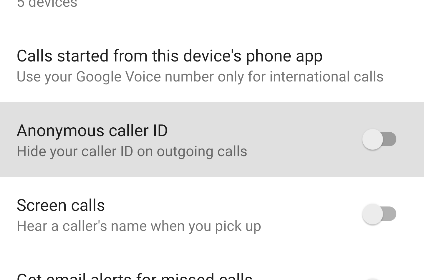 Hiding outgoing call ID now live on Google Voice for Android and desktop