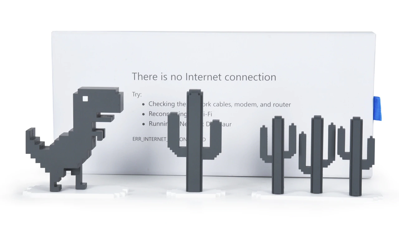 Chrome's offline dinosaur is now an actual toy you can buy, and it