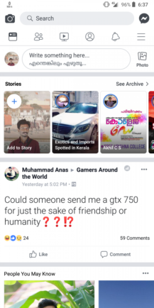facebook all white interface