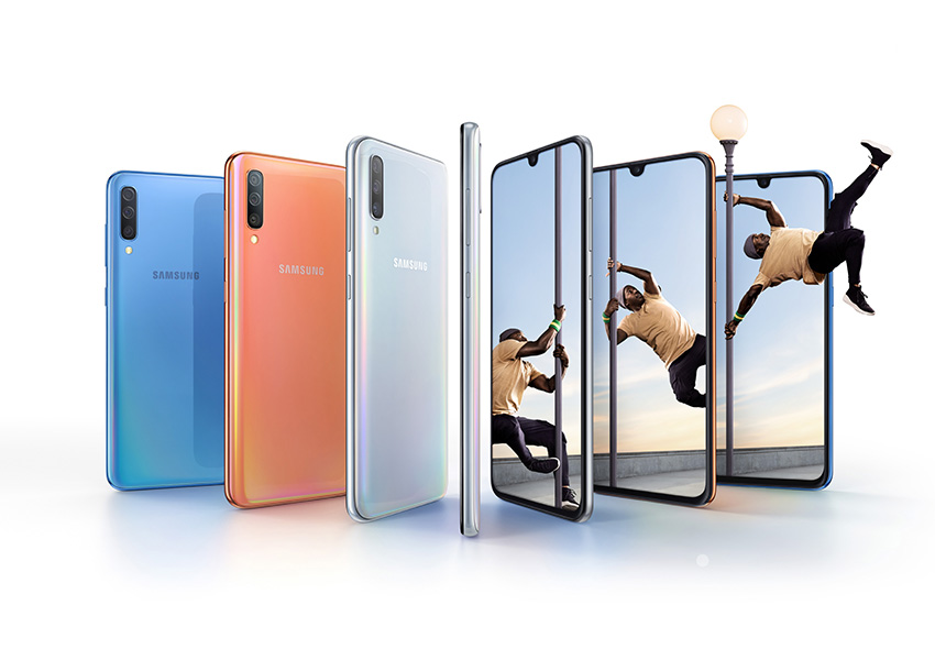 Samsung unveils the Galaxy A70 with a notched 20:9 display and three rear cameras