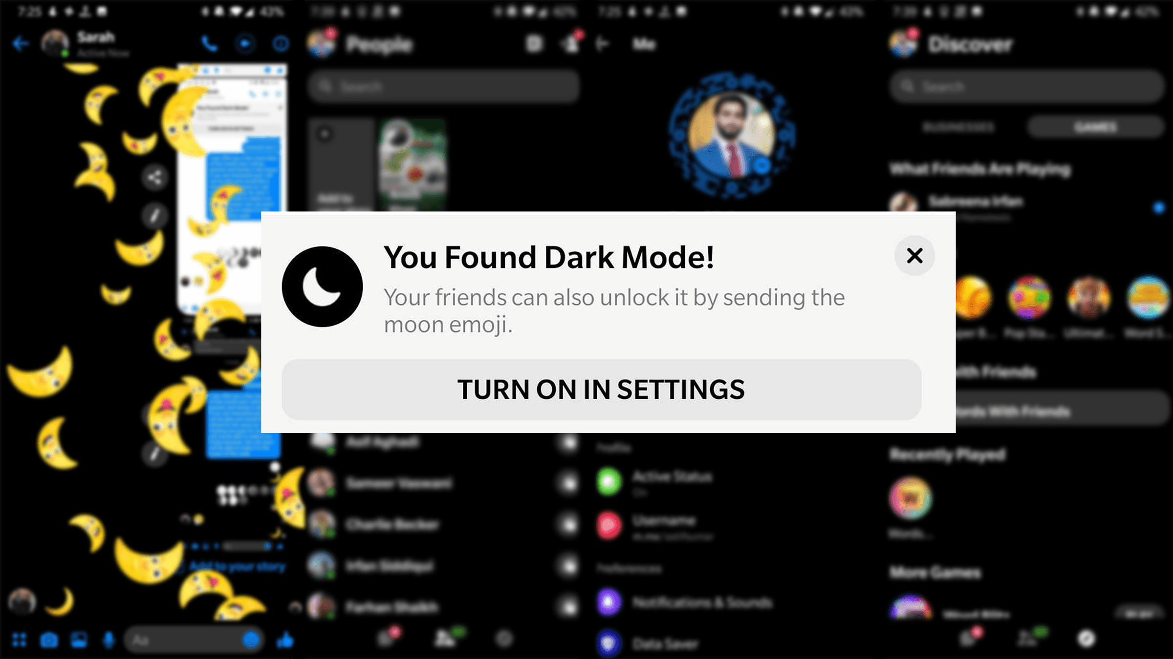 facebook update 2019 dark mode